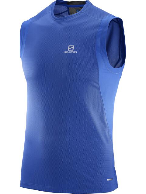 Salomon Trail Runner Sleeveless Shirt Men surf the web/black